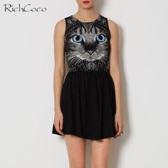>>>Cheap Price GuaranteeRICHCOCO Women's Fashionable Creative Blue Eye Cat Printing Show Thin Round Collar Sleeveless Vest Waist Skating Dress D040RICHCOCO Women's Fashionable Creative Blue Eye Cat Printing Show Thin Round Collar Sleeveless Vest Waist Skating Dress D040Low Price...Cleck Hot Deals >>> http://id173506849.cloudns.pointto.us/32669070478.html images