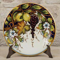 "Large 17"" decorative plate ~ Harvest Time"