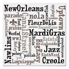 New Orleans Love - scrapbook paper, cards, wall art?