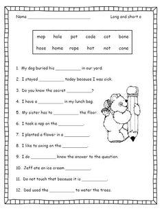 Sounding It Out: Silent E Rule | Worksheet | Education.com