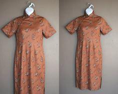 Vintage Asian Dress Chinese Dress Mandarin by HerMemoirsVintage