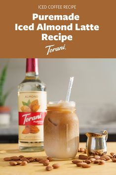 Our iced almond latte recipe uses Torani Puremade Almond Syrup, milk, shots espresso chilled, and Ice. This easy at home iced latte recipe is perfect for your morning coffee or afternoon pick me up. Create your perfect iced latte here! Coffee Drink Recipes, Dessert Recipes, Latte Flavors, Blended Drinks, Coffee Bar Home, Iced Latte, Latte Recipe, Drink Menu, Cold Brew