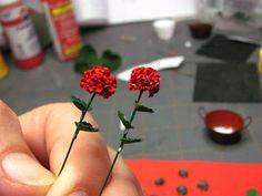 Dollhouse Miniature Furniture - Tutorials | 1 inch minis: Geraniums