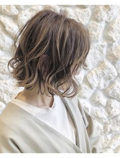 Pin on 髪型 Pin on 髪型 Bob Styles, Short Hair Styles, Wavy Bob Hairstyles, Hair Arrange, Wavy Bobs, Dye My Hair, About Hair, Perm, Hair Designs