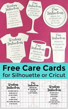 Free Shaped Printable Care Cards for Your Silhouette Portrait or Cameo or Cricut Explore or Maker Business - by cuttingforbusiness.com
