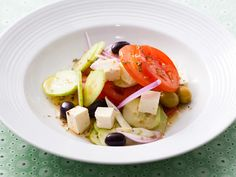 Greek Salad with Tomatoes, Olives and Feta