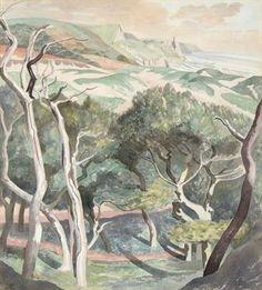 John Nash, 'Penmaen Burrows', 1951 (pencil and watercolour) Watercolor Landscape, Landscape Art, Landscape Paintings, Painting Collage, Painting & Drawing, John Nash, A Level Art, Beautiful Paintings, Art Google