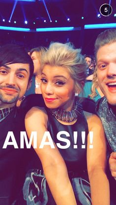 Mitch, Kirstie and Scott at the 2014 American Music Awards.