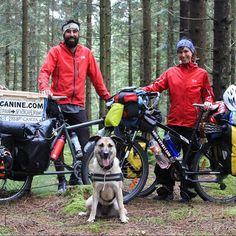 This is Pablo and Anna @bikecanine They are from Spain and are traveling with their dog Hippie across Europe. We met in Copenhagen, Denmark and are on our way to Oslo, Norway now (via Sweden).