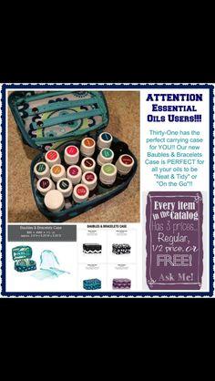 Baubles & Bracelets Case ... perfect travel case for your essential oils!