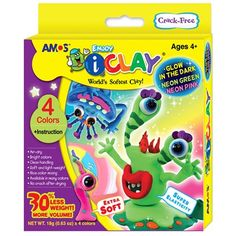 buyinvite.com.au - a Iclay 4 pack glow in the dark-AMO-867