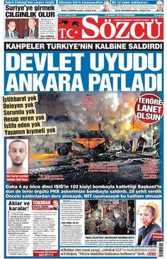 Sözcü Gazetesi Ankara, Olay, Newspaper, Comic Books, History, Movie Posters, Movies, Celebrities, Historia