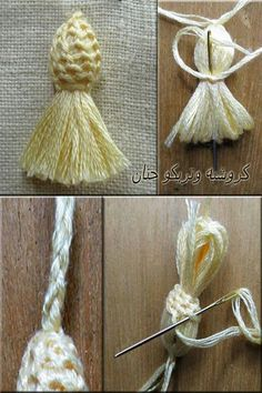 455 Likes 7 Commentsknotted tassel with bead insertThis Pin was discovered by fadthe power of the thistle Ribbon Embroidery, Embroidery Stitches, Embroidery Patterns, Sewing Patterns, Crochet Patterns, Diy Tassel, Tassels, Yarn Crafts, Diy And Crafts