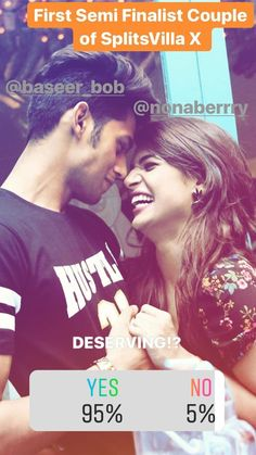 Baseer and naina Mtv Splitsvilla, Warrior High, Mtv Roadies, Star Pictures, Hot Couples, Real Hero, Bollywood Celebrities, Personality Types, Singing