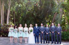Bridal Party Navy Blue Groomsmen Aqua Bridesmaids | Isla-de-Navidad-Resort-Destination-Wedding-Photographer-TréCreative