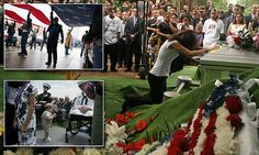 Photographer shares images of memorial services for slain US veterans #DailyMail | See this & more at: http://twodaysnewstand.weebly.com/mail-onlinecom