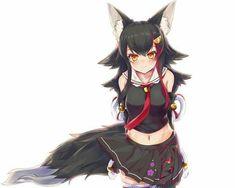 Anime Wolf Girl, Anime Girl Neko, Anime Girl Cute, Manga Girl, Anime Elf, Manga Anime, Girls Characters, Anime Characters, Anime Maid