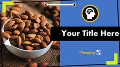 This Creative Free Almonds Presentation Template comes with various features : Easy to use and customize, Number of Various Creative. Almond Benefits, Microsoft Powerpoint, Almonds, Presentation Templates, Dog Food Recipes, Food And Drink, Google, Almond Joy, Dog Recipes