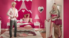 """Barbie and Ken live a not so happily ever after life in Dina Goldstein's """"In The Doll House,"""" in which Ken is -- gasp! -- gay."""