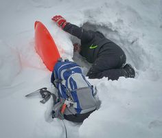 #Snow caves are an excellent #winter shelter choice. Blocking the wind is key to keeping warm! #survival #survivalskills #ust #ust_survival #tetonsports #yellowstone #FindYourPark #NationalParks #USTAmbassador