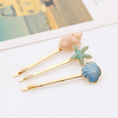 2016 Korean Version Of The New Retro Fashion Jewelry Hairpin Cute Female Conch Starfish Hairpin Hair Accessories Wholesale