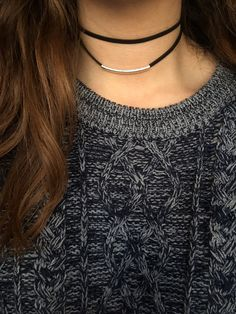 https://www.etsy.com/listing/262487530/double-wrap-leather-choker-silver-bar