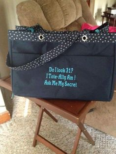 Thirty One Soft Utility Tote #Personalization #Monogramming