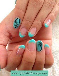 Palm Tree Nails by CuteNailDesigns - Nail Art Gallery nailartgallery.nailsmag.com by Nails Magazine www.nailsmag.com #nailart