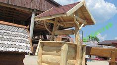 studnia ogrodowa drewniana