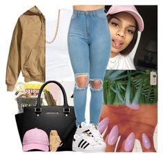 """""""Back2school #18"""" by msixo ❤ liked on Polyvore featuring Forever 21, Rolex, H&M and adidas"""