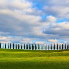 La Toscana e i suoi cipressi...foto di paolo ortelli