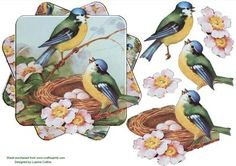 Birdsong Twisted Card Topper on Craftsuprint - Add To Basket!