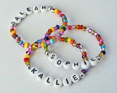 Get this Eiffel Tower Charm bracelet in the pearl colors of your choice! This is a Stargazinglily Personalized Childrens ID Name Bracelet. You can