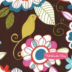Cocoa Berry Cocoa Tweet Birdie Tweet Yardage SKU# CX5469-COCO-D