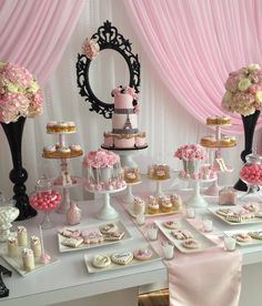 Trendy Birthday Cake Decorating Ideas For Girls Sweet 16 Dessert Tables Barbie Birthday, Barbie Party, Girl Birthday, Birthday Table, 13th Birthday, Cake Birthday, Thema Paris, Paris Themed Birthday Party, Paris Baby Shower