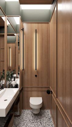 40 Very Efficient Small Powder Room Design Ideas - Page 13 of 46 Restroom Design, Bathroom Interior Design, Bathroom Styling, Home Interior, Modern Interior Design, Japan Interior, Interior Livingroom, Toilette Design, Bad Inspiration