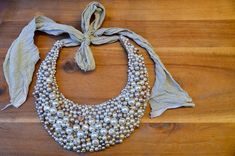 DIY Breakfast at Tiffany's Pearl Statement Necklace