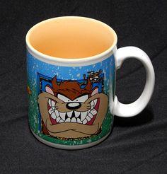 Tasmanian Tazmanian Devil Taz Coffee Mug Cup Warner Bros Six Flags Vtg 1994  #WarnerBrothersforSixFlags