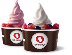 Red Mango® is committed to providing the healthiest and best tasting all-natural nonfat frozen yogurt and fresh fruit smoothies. No wonder Zagat ranked them #1. I personally prefer it over Pinkberry but that's good too. (Fro Yo/Various)