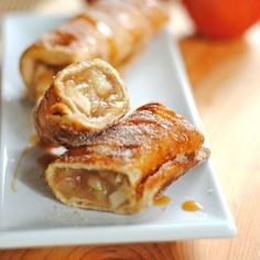 Cinnamon Apple Chimichangas - How do you make apple pie even better? Deep fry it in a burrito!