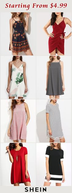 Starting from $4.99! Cute Dresses, Cute Outfits, Summer Dresses, Prom Dresses, Cute Cheap Shirts, Modest Skirts, Dress With Bow, Affordable Fashion, Fitness Fashion