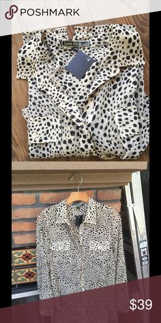 NWT Love Stitch Cheetah Blouse Small Great 4 Fall Chic Cheetah Print Blouse. Great for Fall transition. Bought at boutique in Malibu. Lost weight before I got to wear. My loss is your gain. Love Stitch Tops Blouses