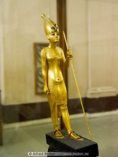 Golden statue ,Ancient Egyptian.