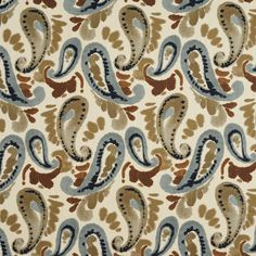 The KC736 upholstery fabric by KOVI Fabrics features Abstract or Geometric, Paisley pattern and Beige or Tan or Taupe, Brown, Light Blue, White or Off-White as its colors. It is a Print type of upholstery fabric and it is made of 55% Cotton, 45% Polyester material. It is rated Exceeds 25,000 double rubs (heavy duty) which makes this upholstery fabric ideal for residential, commercial and hospitality upholstery projects.