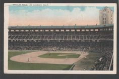 Inside of Wrigley Field, home of the Los Angeles Angels of the old Pacific Coast League.