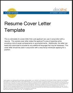 examples of cover letters for resumes general