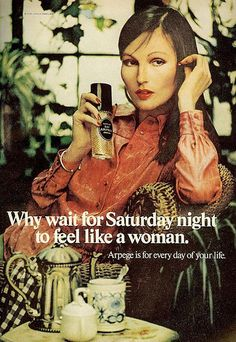 Unless, of course, you actually ARE a woman. (Funny bad fragrance ads)