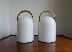 "Rare Pair of Romolo Lanciani ""Tender"" Table Lamps for Tronconi, c. 1980s"