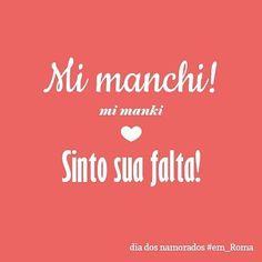 Saudade é uma palavra tão usada por nós! Aliás somente quem fala a portuguesa sabe o que significa esse sentimento. Esse sentimento que nós expressamos com uma palavra é traduzido por frases em outra língua. Algo como melancolia por sentir falta de alguém ou nostalgia de alguém...  Bom em Italiano a frase que mais se aproxima se quiser dizer para alguém que está com saudade é essa! Mi manchi!  #Roma #italia #emroma#aprendendoitaliano #frasesdeamor #frasesemitaliano #declaracaodeamor…