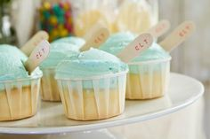 Cupcakes at an Old Fashioned Summer 1st Birthday Party with So Many Cute Ideas via Kara's Party Ideas | KarasPartyIdeas.com #LittleRascals #Party #Ideas #Supplies #1stbirthday #cupcakes